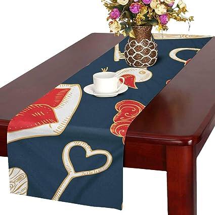 6db76e011a44 Amazon.com: INTERESTPRINT ADEDIY Table Runner Valentine's Day Love ...