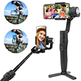 FeiyuTech 3-Axis Gimbal Stabilizer for Smartphone with 18cm Extensional Stick, Handheld Gimbal for iPhone Samsung Android Phones for YouTube Film Selfie Live Streaming and Video Making, Vimble 2S