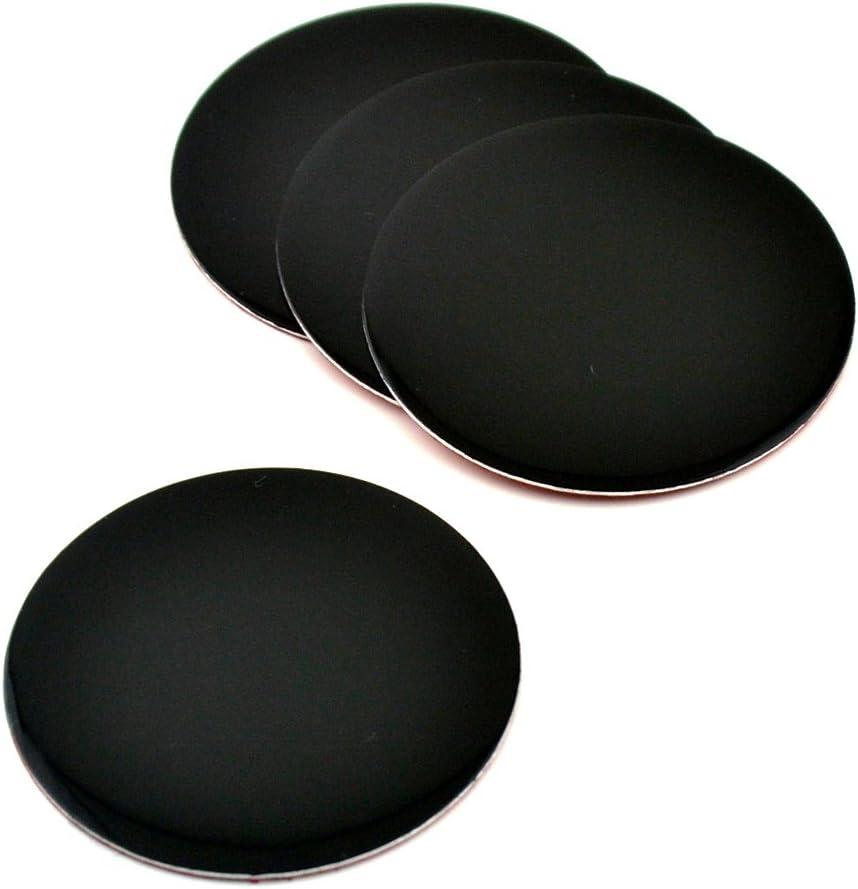 Wheel Center Caps Sticker Black Aluminum 50mm Sticker Size 1.97in 4pcs 50mm