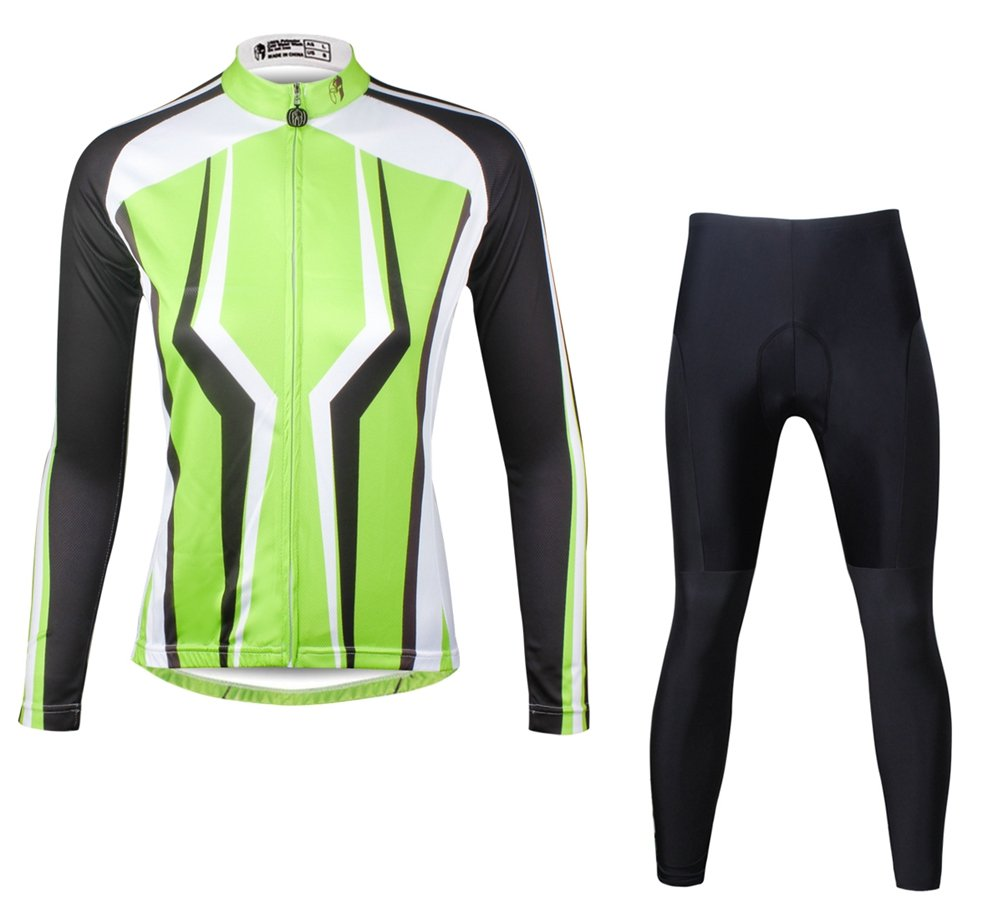 Uriah Women's Bicycle Jersey Long Sleeve 3D Gel Padded Pants Sets Tights ILPALADINO