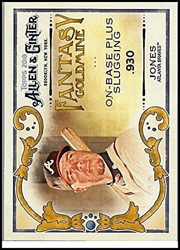 2018 Allen and Ginter Fantasy Goldmine #FG-23 Chipper Jones Braves Baseball Card NM-MT ()