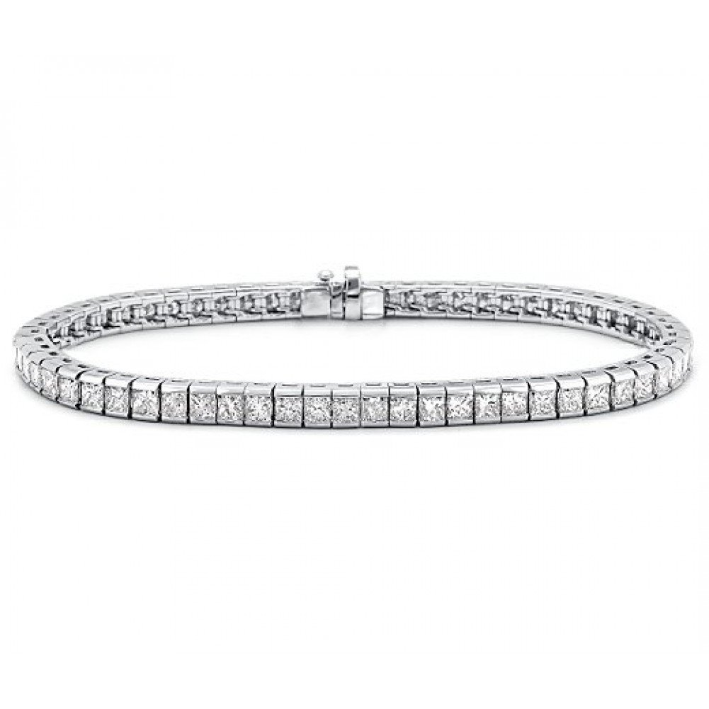 Madina Jewelry 4.00 ct Ladies Princess Cut Diamond Tennis Bracelet in Channel Setting by Madina Jewelry