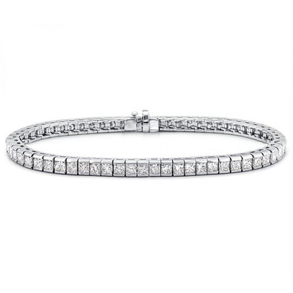 3.00 ct Ladies Princess Cut Diamond Tennis Bracelet In Channel Setting by Madina Jewelry (Image #1)