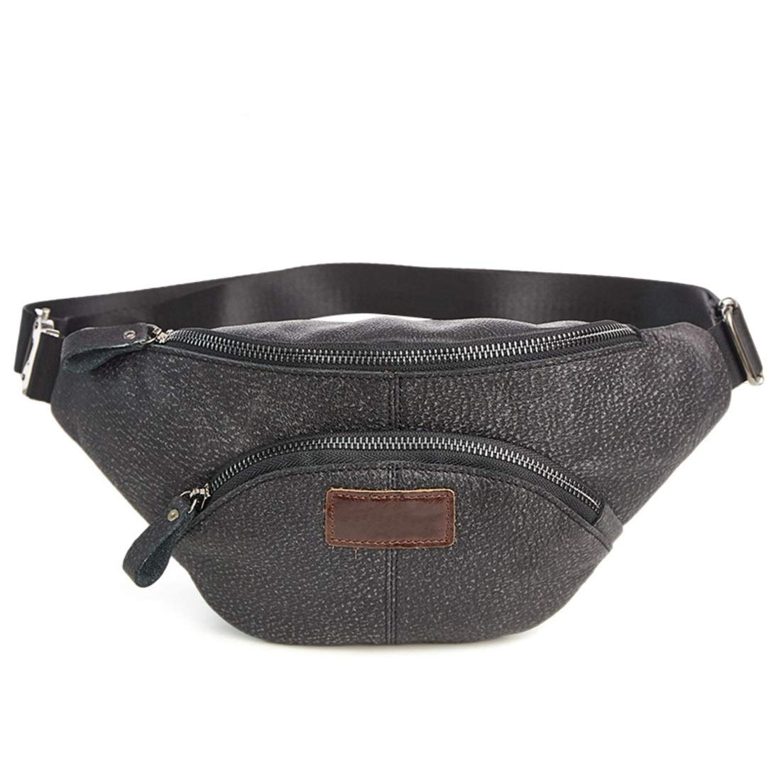 Color : Rown Souliyan Leather Waist Bag Bum Bag Fanny Pack Travel Waist Pack for Leisure Holiday Sports