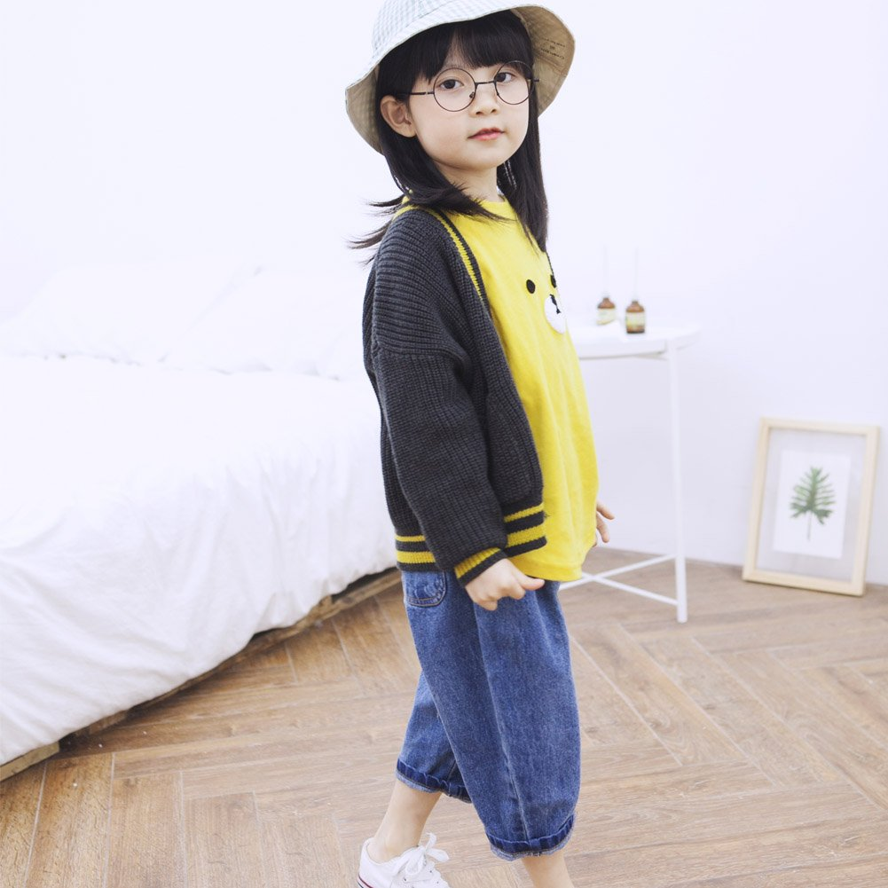 Y/·J Back home Kids V Neck Cardigan Sweaters Button Down