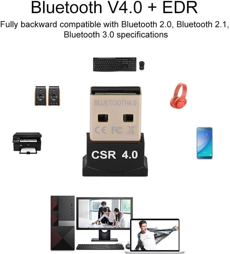 USB Bluetooth Mini Adapter Receiver Wireless Bluetooth Dongle USB for Windows Mouse Keyboard Headset
