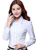(フムフム) fumu fumu トップス シャツ ブラウス 白 長袖 大きいサイズ 5XLまで 秋 冬 通勤 Yシャツ ホワイト