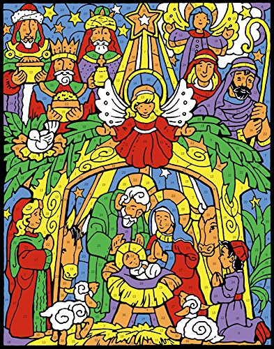 Colorful Nativity Color Your Own Advent Calendar (Countdown to Christmas)]()