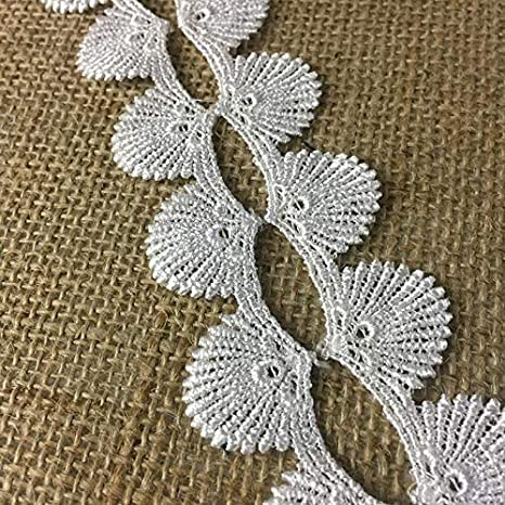 "2.5/"" Shell Beaded Fringe Trim       Cream    Sold by the yard"