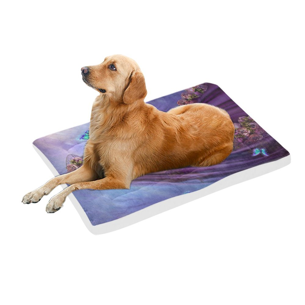 42\ your-fantasia Fairy and bluee Butterflies Pet Bed Dog Bed Pet Pad 42 x 26 inches
