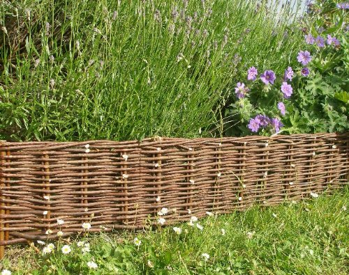 Woven Willow Edging, 16''H x 47''L (12) by MGP