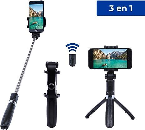 Trípode Extensible para móvil con Mando a Distancia. Palo Selfie ...