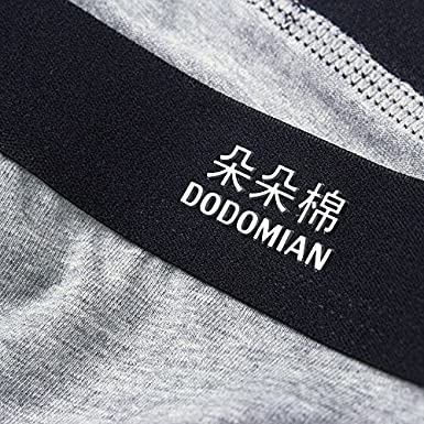 DODOMIAN Mens Boxer Shorts 4 Pack Cotton Breathable Mens Trunks Underwear