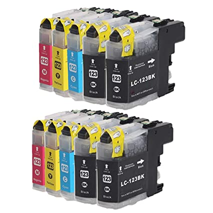 INKMAKE LC123 - Cartucho de tinta remanufacturado para Brother LC ...
