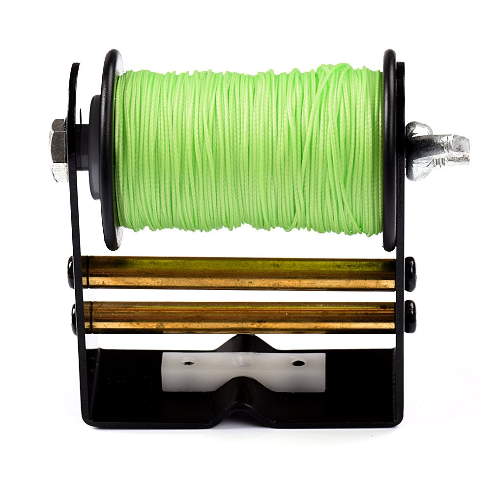 Ww Zat Archery Bowstring Serving Thread Bow String Serving Jig Adjustable Tension 30 Meter/Roll 0.018'' Green for Compound Bow and Recurve Bow (Pack of 1)