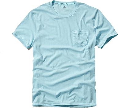 Hollister para hombre Slim Fit Cuello En V & Bolsillo Camisetas: Amazon.es: Ropa y accesorios