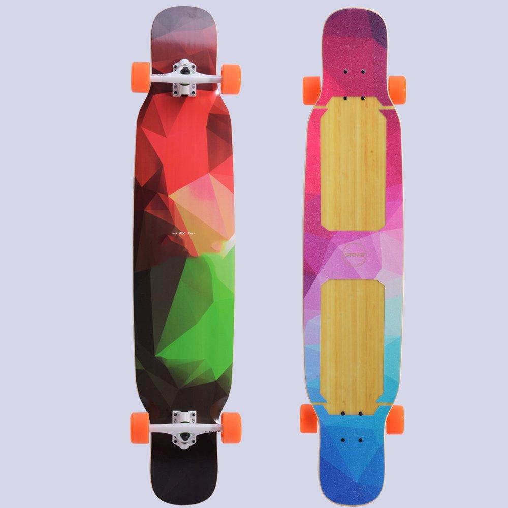 CZZ Bxh Stoke Longboard Skateboard Ragazza Dance Board Pennello Strada Lungo Bordo Dance Board Strada Skateboard Danza Monumenti Bordo Lungo Vibrante,C,Skateboard