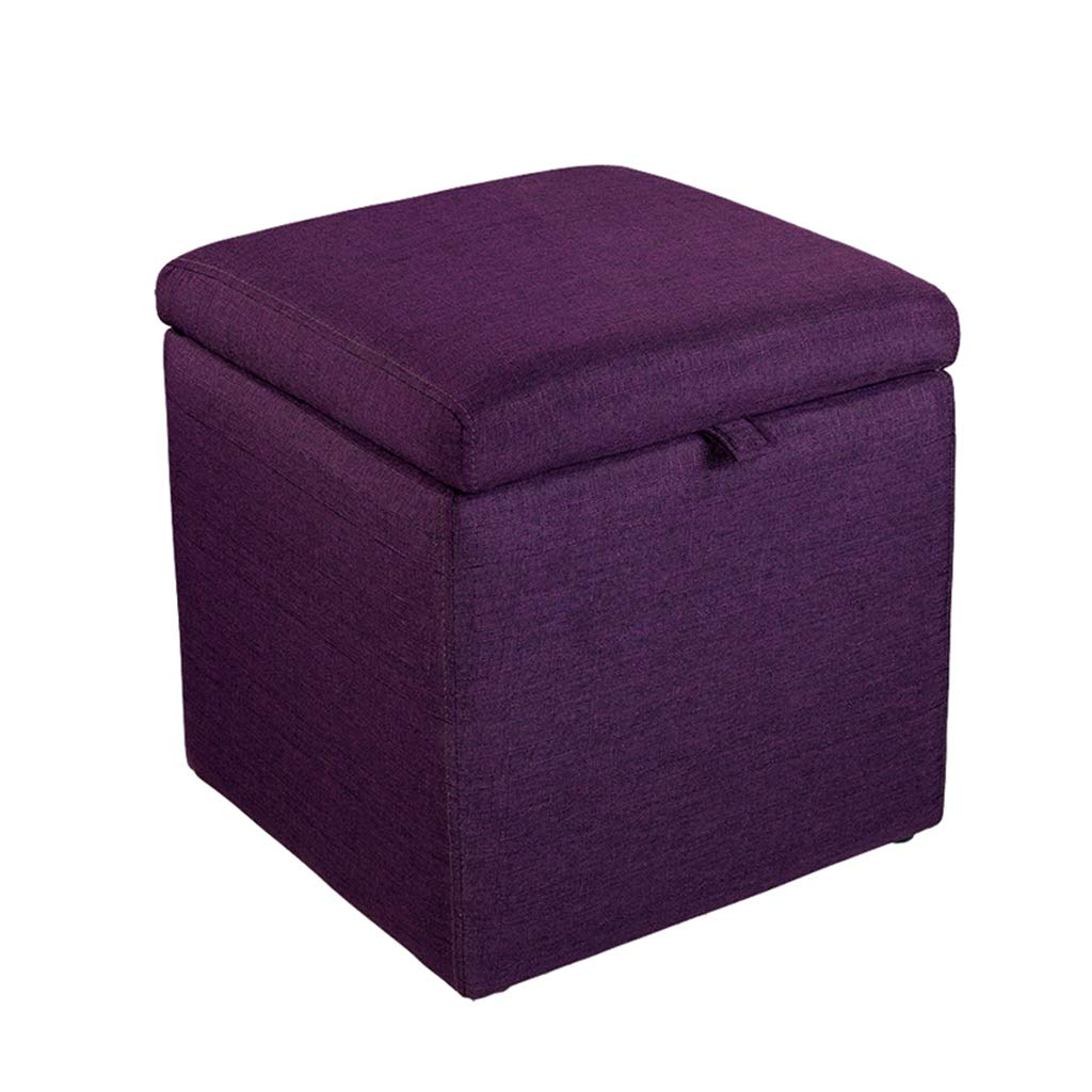007 16.92×16.92×17.71  TYJY Fabric Storage Stool, Small Sofa Bench, Bedside Stool, shoes Bench (color    002, Size   16.92×16.92×17.71 )