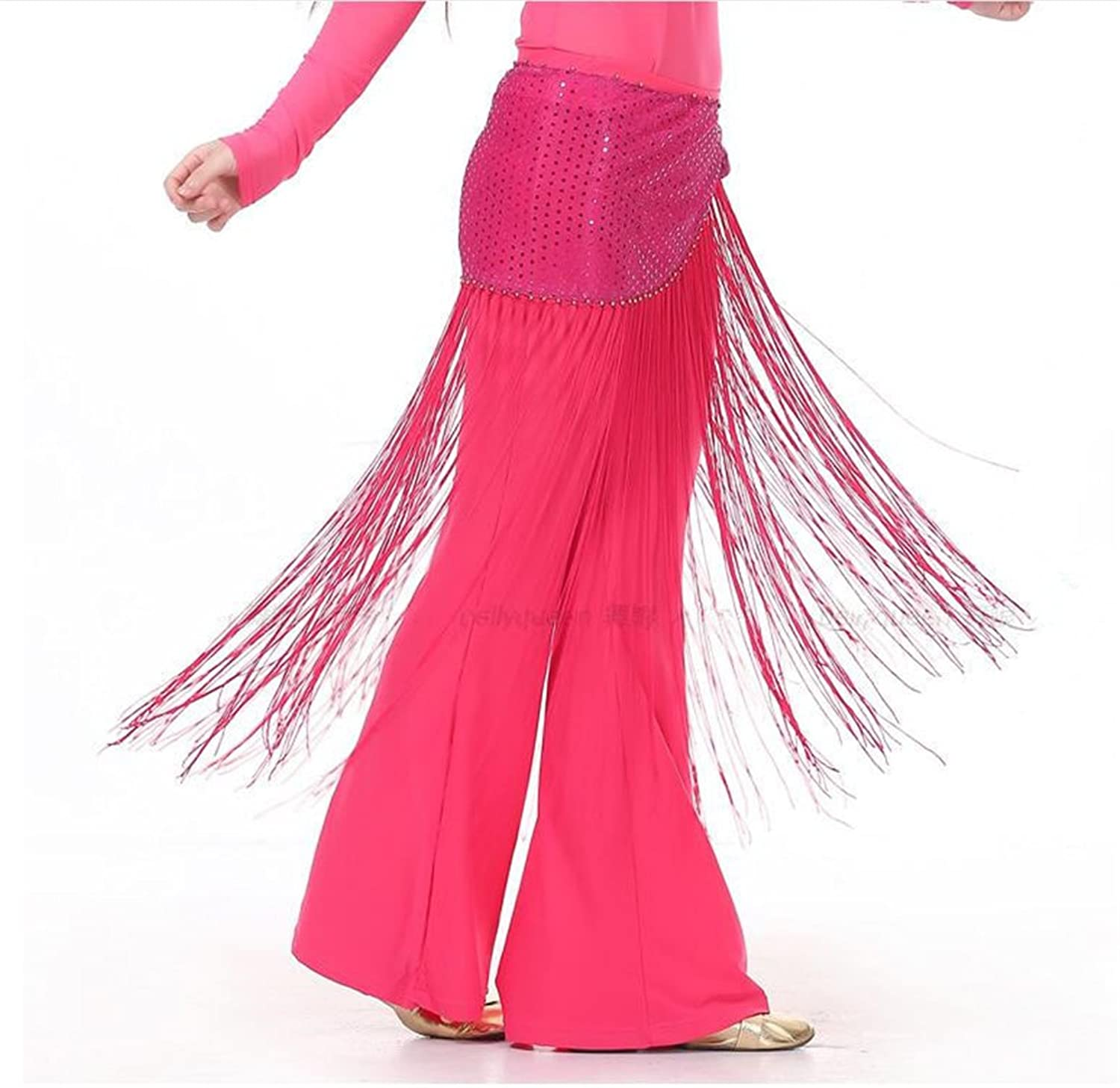 4eba100e33db ZTZF Women s Belly Dance triangler Sequins Hip Scarf with Tassels ...