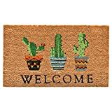 "Home & More 104051729 Cactus Welcome Doormat, 17"" x 29"", Multicolor"