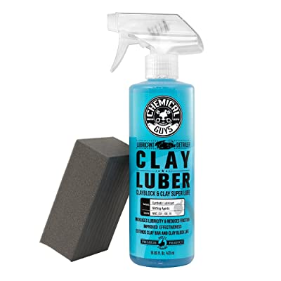 Chemical Guys Clay_Block_KIT Clay Block V2 and Luber Surface Cleaner: Automotive