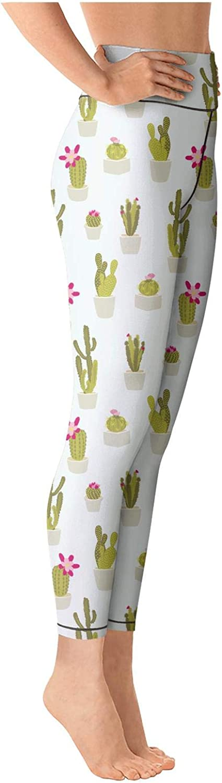 Women Yoga Pants Leggings Capris Cactus Repeated danceelastic for Workout Riding Running