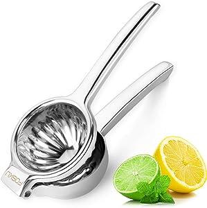 FOSKU Lemon Squeezer 18/8 304 Stainless Steel Manual Fruit Squeezer, Citrus Lime Squeezer, Orange Juicer Fruit Juice Press Tool, Sturdy Hand Juicer for Juicing Oranges, Lemons & Limes