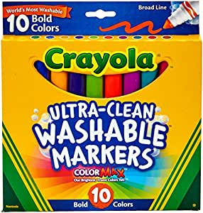Crayola 10 Ultra-Clean Washable Markers™Bold Colors