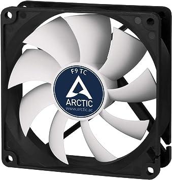 ARCTIC F9 TC 92 mm, Ventilateur Haute Performance, Ventilateur Boitier, Refroidisseur Silencieux pour Unité Centrale, Roulement à Fluide Dynamique,