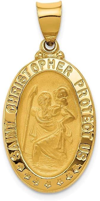 14kt Gold Graduation Medal Patron Saint 1//2 x 1//4