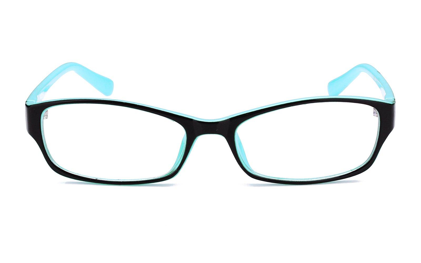 6c520cc5865 Agstum Kids Classic Rectangle Optical Frame Girls Boys Glasses Clear Lens  (Black   Blue)   Departments   Clothing