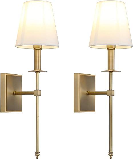 Classic Design Picture Light E14 2 X 40 Watt Polished Brass Lamp