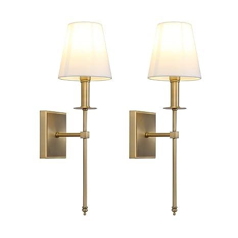 Amazon.com: Permo - Juego de 2 lámparas de pared clásicas ...