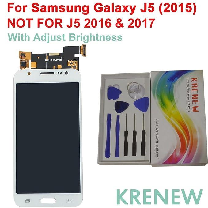 KRENEW Touch Screen Replacement Digitizer Glass LCD & Repair Tools Kit for  Samsung Galaxy J5 2015 J500 J500F J500FN J500G J500H J500M J500Y (White +