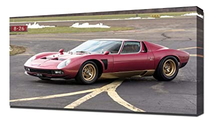 Amazon Com Lilarama Usa 1972 Lamborghini Miura P400 Svj V6 Canvas
