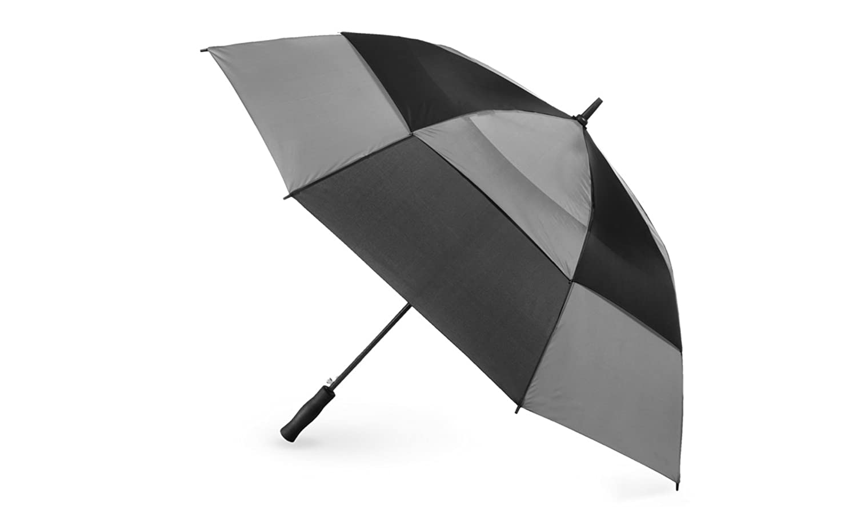 91cbd9dea223 Totes Port Men's Automatic Vented Canopy Stick Umbrella (One size ...