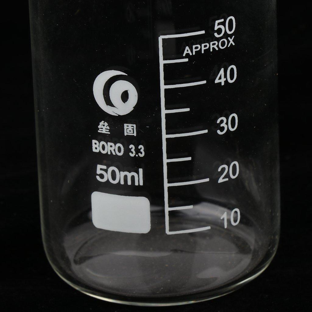 3 Vaso De Vidrio Graduado De Vidrio De Borosilicato Graduado De Forma Alta Para Laboratorio