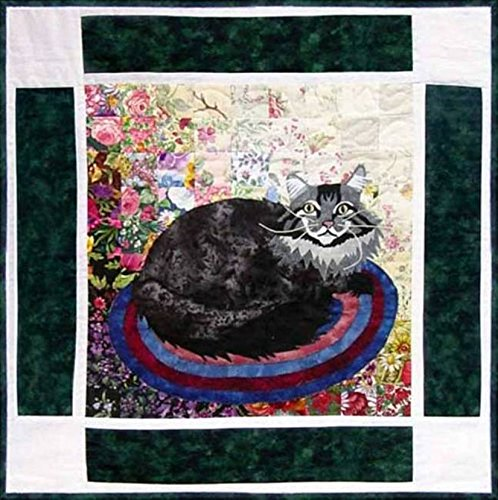 Watercolor Quilt Kit - Rachel's Cat Garden - Block 10 - Maine Coon Cat Harley - KIT ONLY! (Quilling Quilt Blocks)