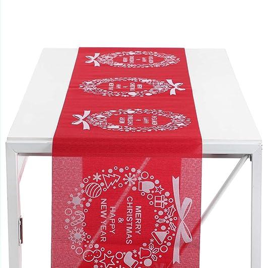 Camino de mesa, patrón de impresión exquisito Navidad camino de ...
