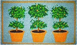 Three Orange Trees Coir Mid Thickness 18x30 Doormat