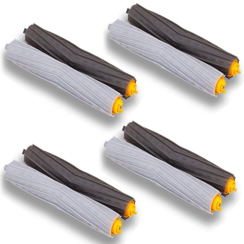 aotengou Accesorio para Irobot Roomba Rueda de rueda + Filtro HEPA + Reemplazo del kit de cepillo lateral para iRobot Roomba 800 860 870 880 980 Aspirador ...
