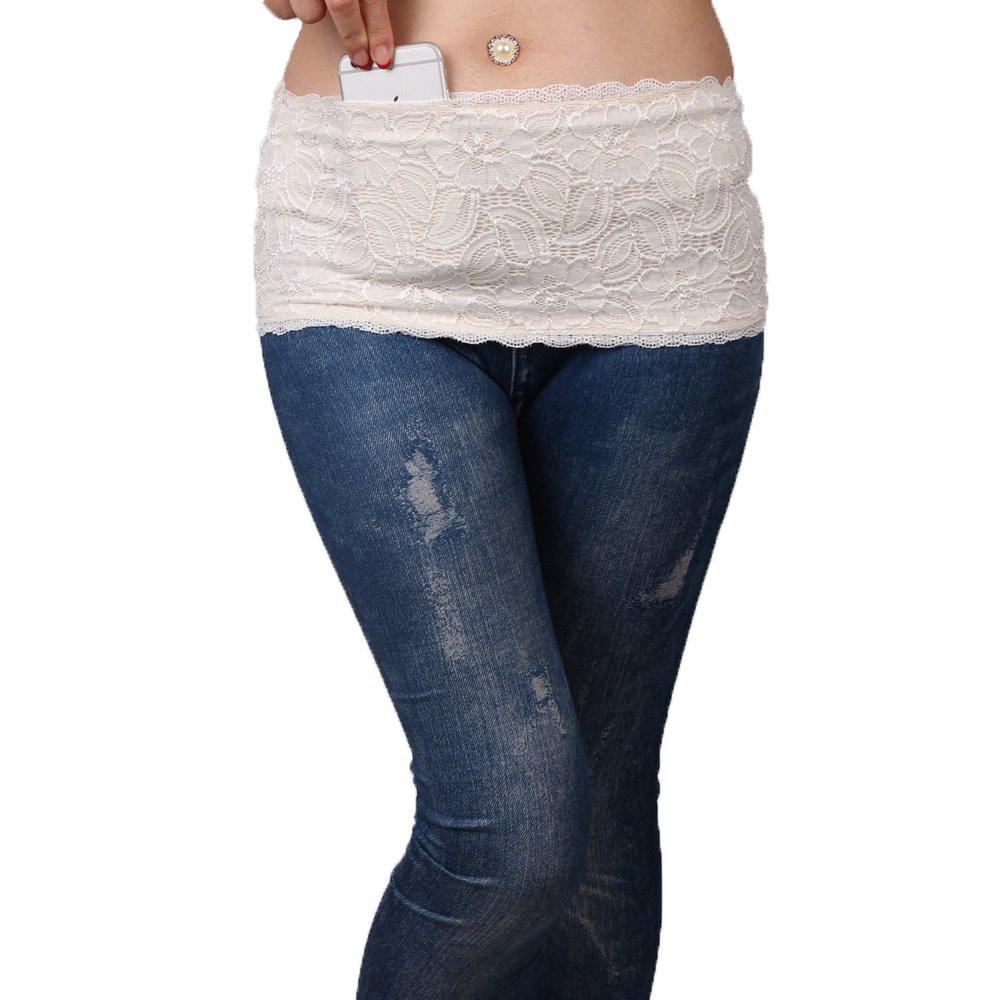 BKID Women Waist Belt,Lace Fitness Belt Bag,Fashion Bum Bag Glitter