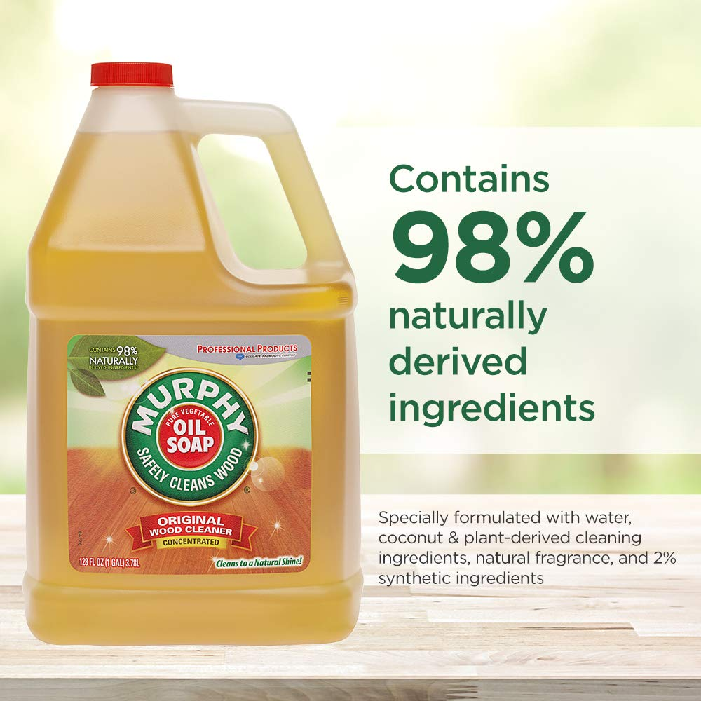 MURPHY OIL SOAP Wood Cleaner, Original, Concentrated Formula, Floor Cleaner, Multi-Use Wood Cleaner, Finished Surface Cleaner, 128 Fluid Ounce (US05480A) by Murphy Oil (Image #10)