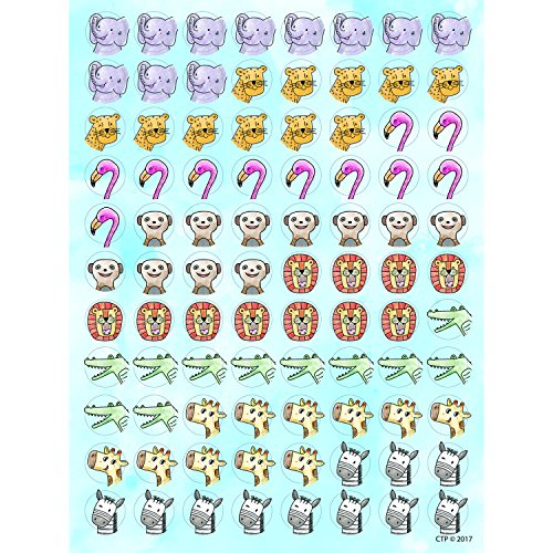 Creative Teaching Press Stickers Safari Friends Hot Spots, Ctp 0460 with