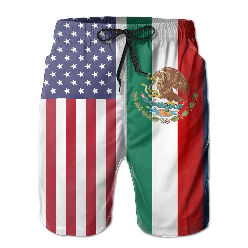 f39216a654272 SARA NELL Mens American Mexican Flag Breathable Beach Board Shorts Swim  Trunks Quick Dry | Amazon.com