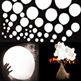 20Pcs LED Light up Balloons 12 Inch Latex Multicolor Lights Helium Balloons Christmas Halloween Wedding Decoration Birthday Party Supplies (White)