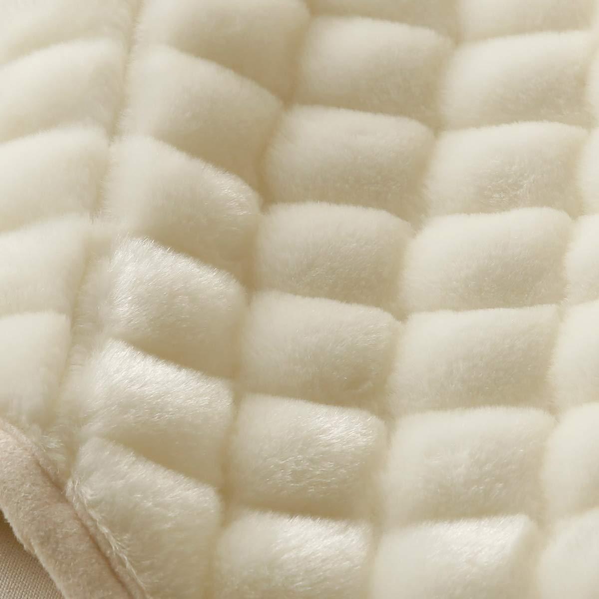 西川リビング アクリル 敷パッド AP1994 ダブル 中綿 増量 制電 抗菌防臭加工 丸洗いOK 日本製 48343 すっぴんホワイト[70] B07HLXRZ2W