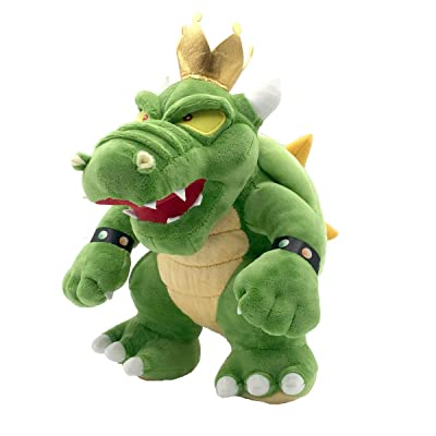 Meijiada Super Mario Bros King Koopa Bowser Plush Toy Stuffed Animal 12 Inches: Toys & Games