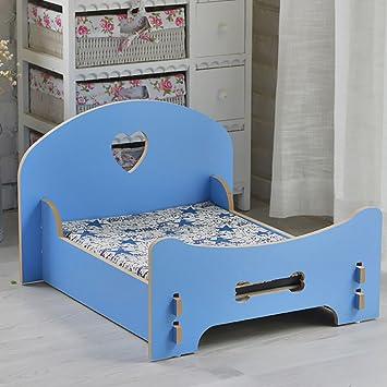 FPigSHS Cama para Perros Cama para Gatos Cama para Mascotas Cama de Madera Maciza Cama de sofá Lavable Princesa (Color : Azul): Amazon.es: Hogar