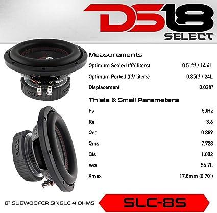 Ds18 Slc8s Select Series 20 3 Cm Single Schwingspule 400 Watt Max Subwoofer 1 Stück Audio Hifi